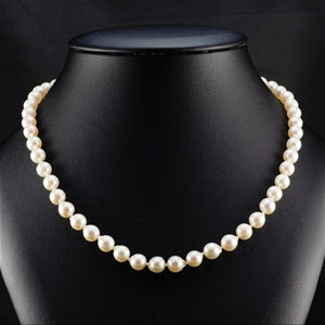 Natural Akoya Pearl Uniform Necklace 7.0