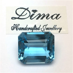 One Stone Blue Topaz 9.48ct in Total