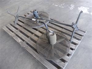 Qty 2 x Industrial Pedestal Fans (Poorak