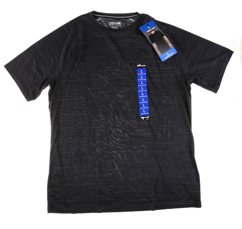 SIGNATURE Men`s Active Tee, Size S, 4-Way Stretch Fabric, Moisture Wicking
