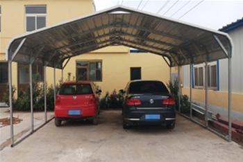 Unused Two Vehicle Portable Steel Heavy Duty Prefabricated Carport Kit