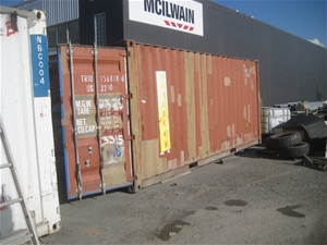 20ft Red/Brown Container