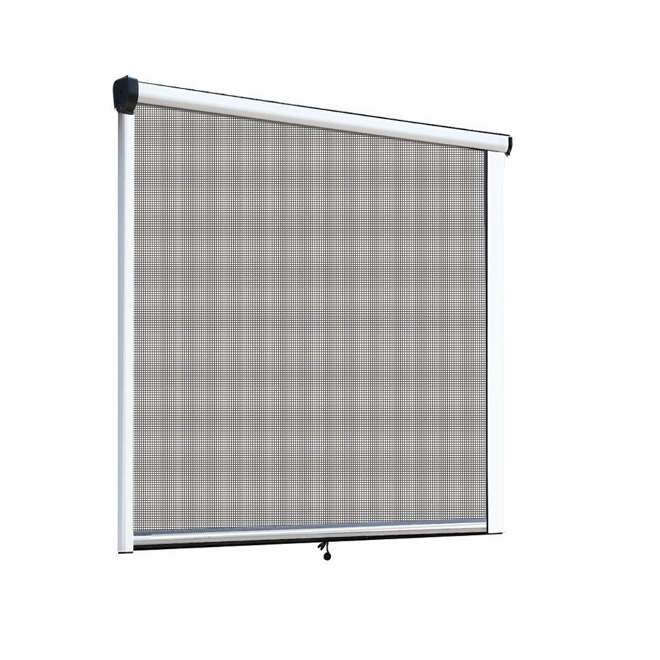 Instahut Retractable Window Fly Screen Flyscreen Mesh DIY 1.5m x 1.5m White