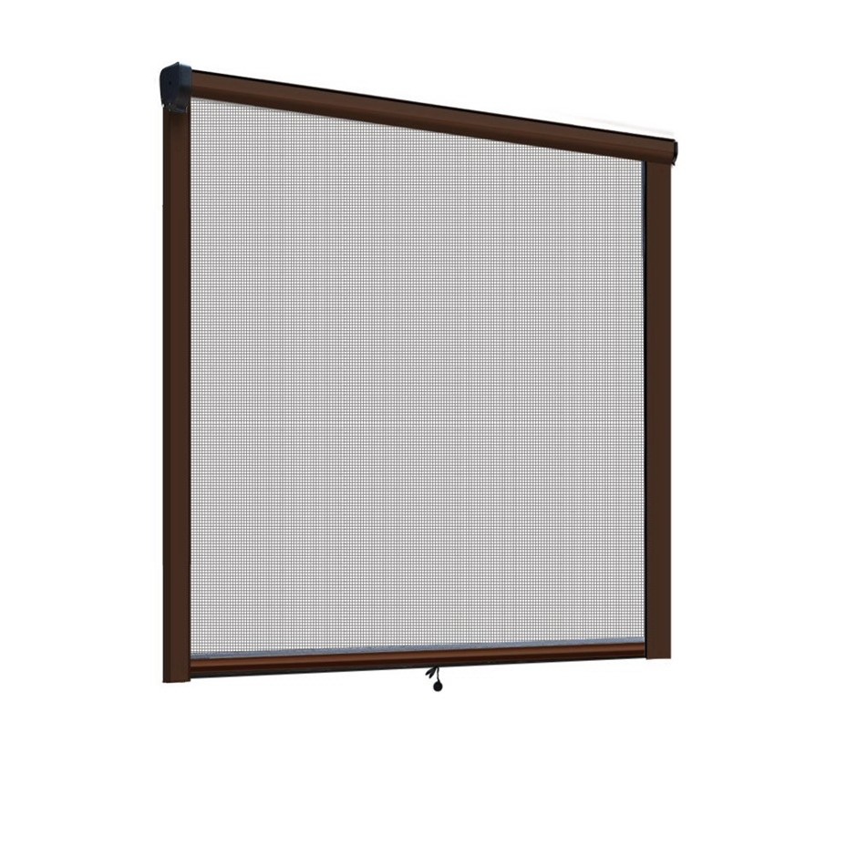 Instahut Retractable Window Fly Screen Flyscreen Mesh DIY 1.8m x 1.5m Brown