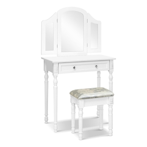 Artiss Dressing Table Stool Mirror White