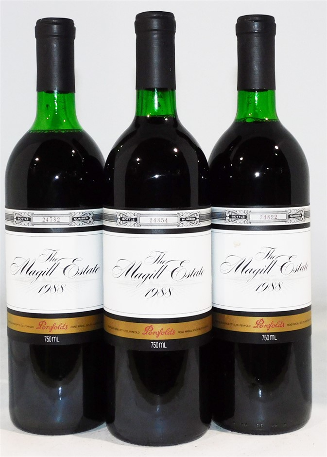 Penfolds 'Magill Estate' Shiraz 1988 (3x 750ml)