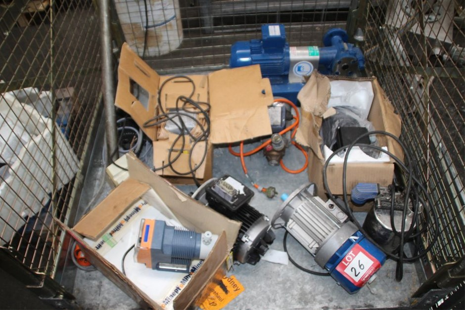 Qty 9 x Assorted Electric Motors & Pump