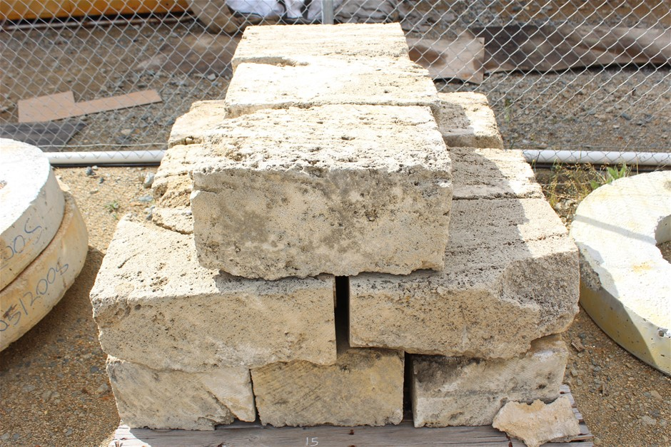 Pallet of Limestone Blocks