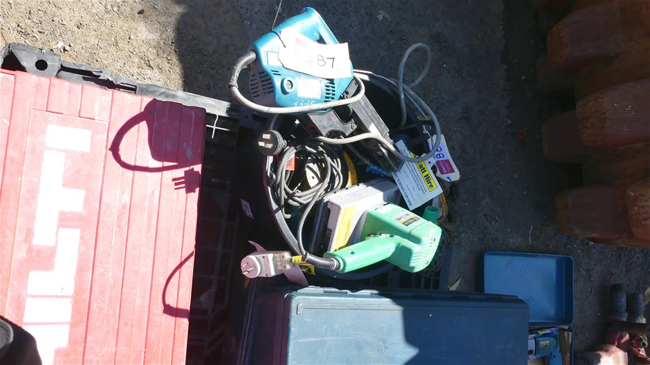 Qty assorted Electric Hand Tools
