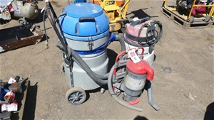 Qty 3 x assorted Industrial Vacuum Clean