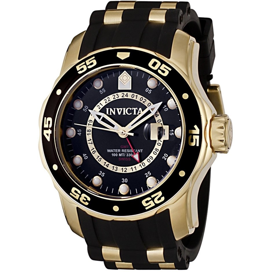 Stunning and distinctive Invicta Pro Diver GMT men's watch.