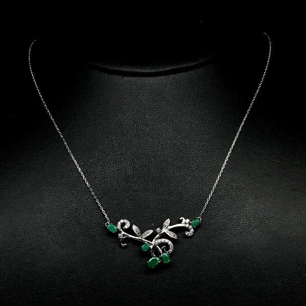 Stunning Genuine Emerald Necklace