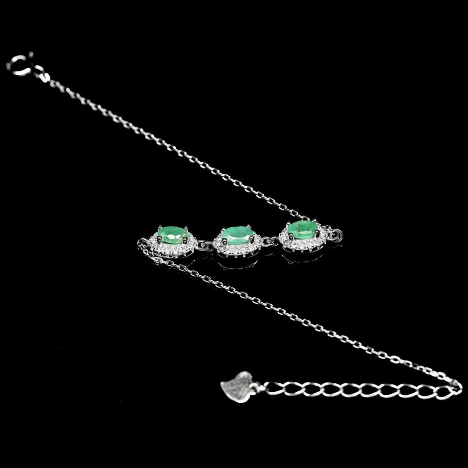 Stunning Genuine Emerald Bracelet