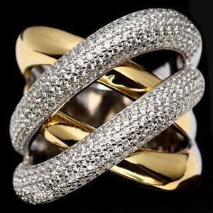 Classy White & Yellow Gold Cubic Zirconi