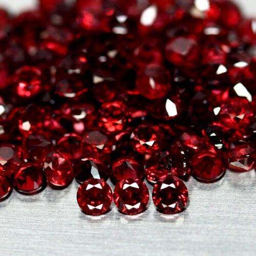 9.45 ct. (Approx. 134pc) Round Cut Red Rhodolite Garnets