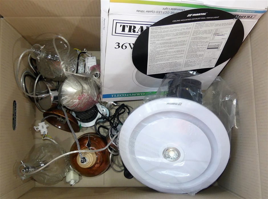 Box of 4 x assorted lights