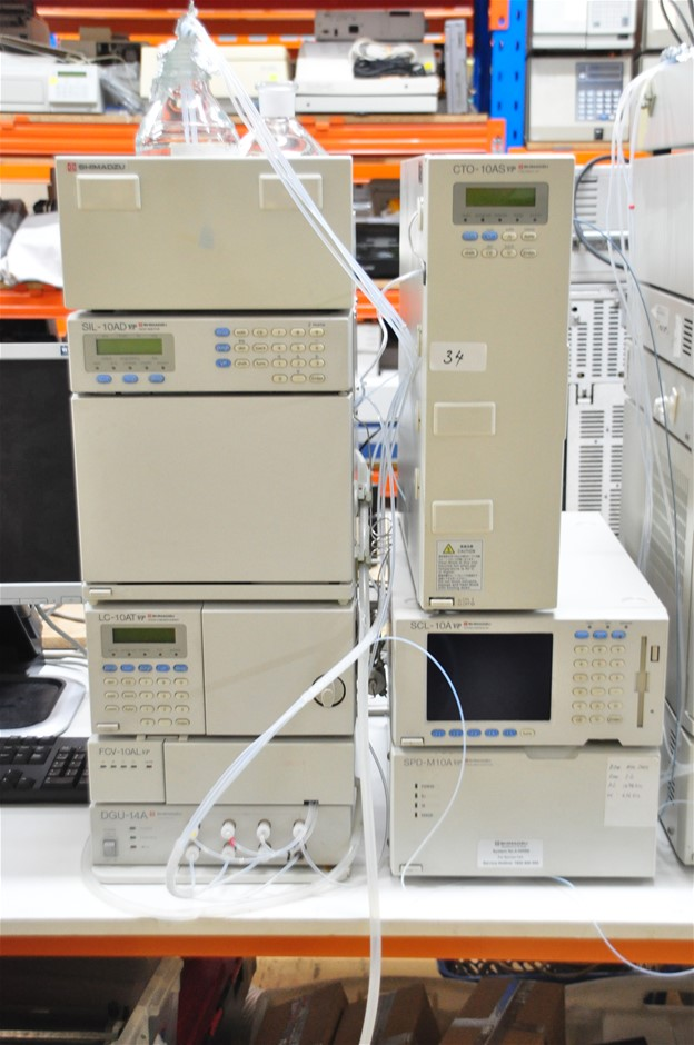 HPLC ternary low pressure system comprising of: LC-10 pump, switching valve