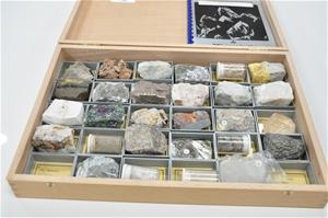 Mineralogical rock sample kit including