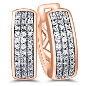 9ct Rose Gold, 0.13ct Diamond Earring