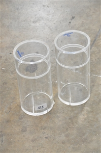 (Qty of 2) Dry containers 100mm x 400mm.