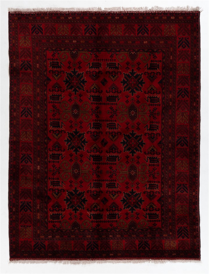 Afghan Khal Mohomadi 100% wool pile hand knotted rug Size (cm): 178 x 236