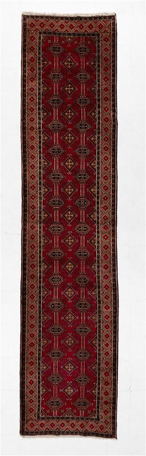 Tribal Baluchi 100% wool pile floor rug Size (cm): 88 x 380