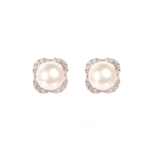 Natural Freshwater White Button Pearl &