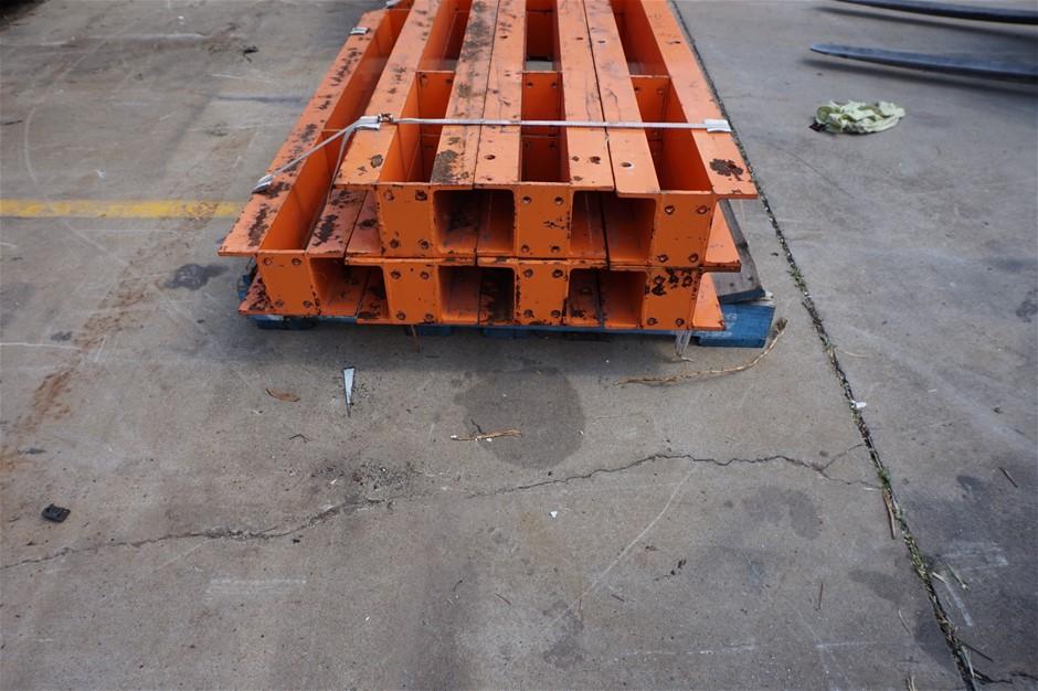 A Set of 7 Heavy duty Rack Beams