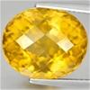9.06ct. Genuine Oval facet Checkerboard Cut Orange Citrine