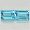 2.06ct. Genuine Baguette facet Blue Topaz Pair