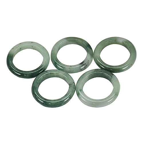 70.48ct. Genuine Green Jadelite Rings 5 Piece