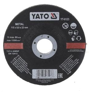 10 x YATO Metal Grinding Discs 115 x 8.0