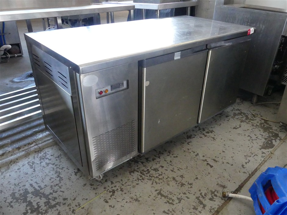 Stainless Steel Self -contained Mobile 2 Door Underbench Freezer