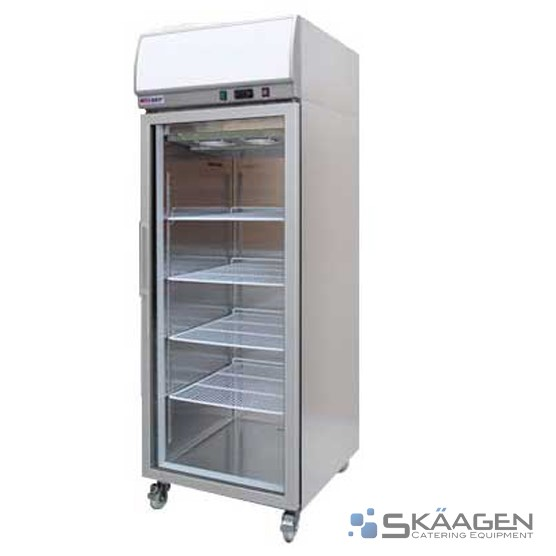 Unused SINGLE GLASS DOOR DISPLAY FREEZER 400L YCF01-LB