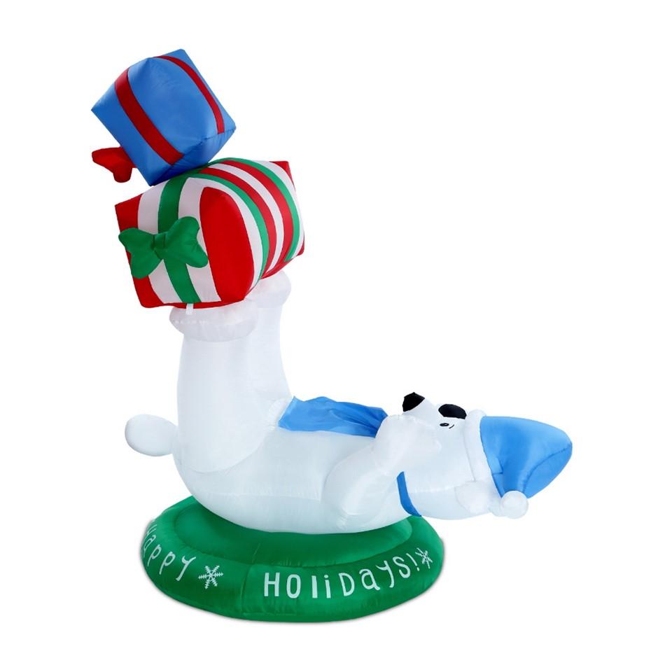 Jingle Jollys 1.8m Christmas Inflatable Polar Bear Lights Airblown