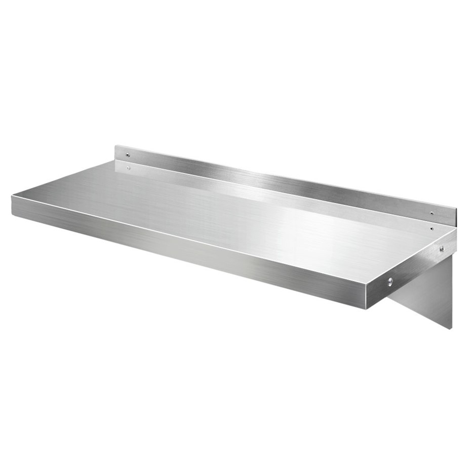 Cefito Stainless Steel Wall Shelf Kitchen Mounted Display Shelving 600mm