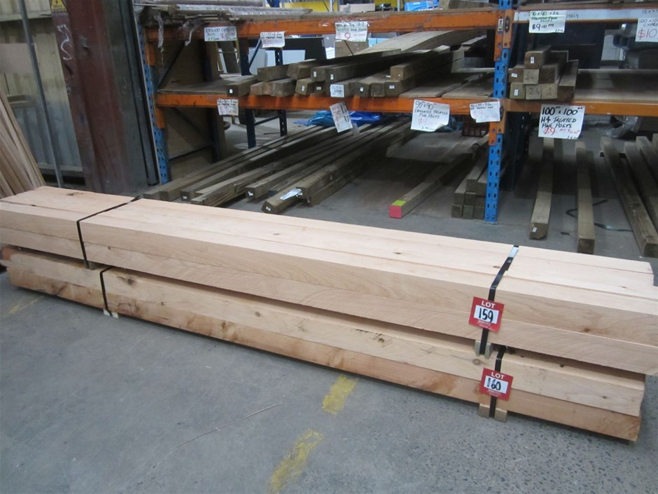 8 x 100mm x 100mm Cypress Pine Sleepers