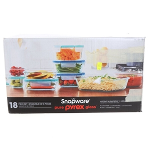 SNAPWARE 18pc PYREX Glass Container Set