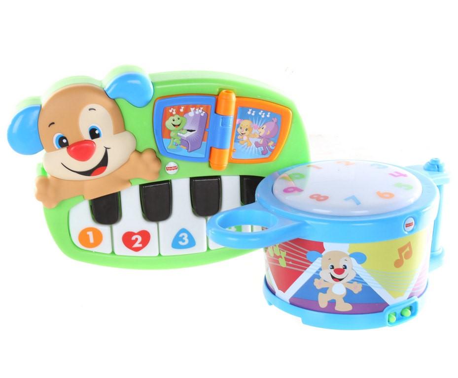 FISHER-PRICE Keyboard & Drum. N.B. Not in original packaging & has been use