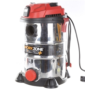 WORKZONE 25L Wet & Dry Vacuum Cleaner w/