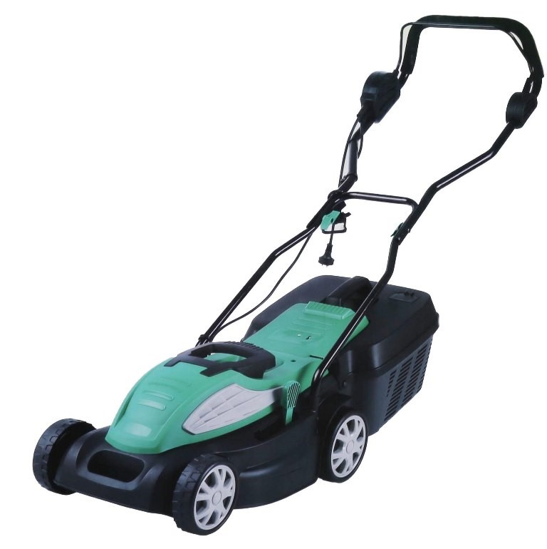 GARDENLINE Electric Lawn Mower 1400W, Cutting Width 34cm, 5 x Adjustable He