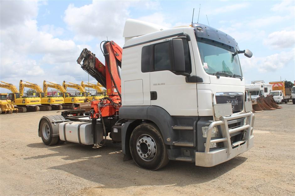 2010 M.A.N. TGS Automatic Turbo Diesel 4x2 Crane Truck