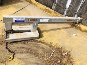 2.5t Fork Lift Jib Attachment - East Wes