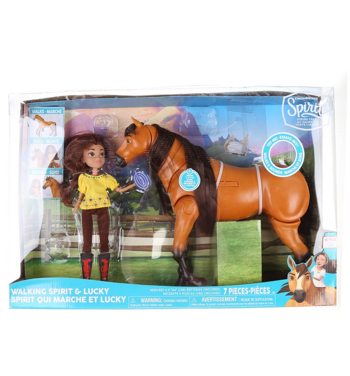 DREAMWORKS Spirit Riding Free Horse & Rider. N.B. Rider missing hand & some