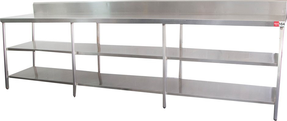 Stainless Steel 3 Tier Kitchen Preparation Table