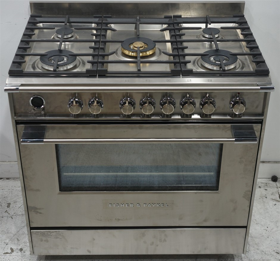 Fisher & Paykel OR90SCG6X1 90cm Freestanding Dual Fuel Oven/Stove