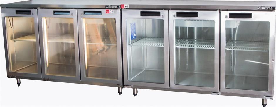 Williams 6 Glass Door Display Bar Refrigerator