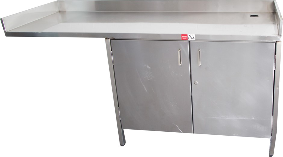 Stainless Steel Freestanding Kitchen Preparation Bench with Doors