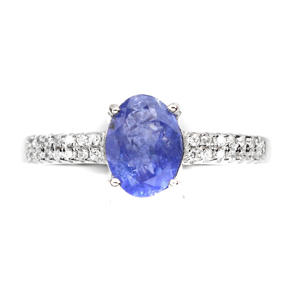 Gorgeous Genuine Tanzanite Solitaire Ring