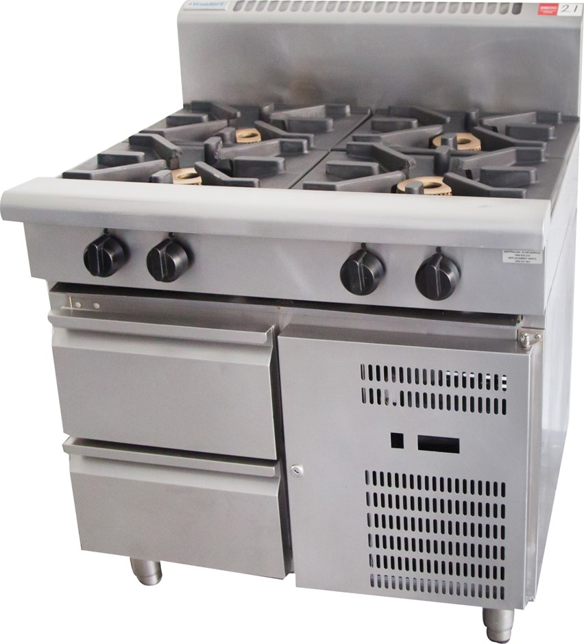Waldorf Gas 4 Burner Stove with 2 Refrigerated Drawers